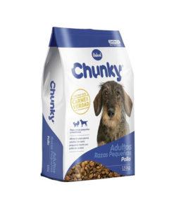 Chunky Perros Adultos Razas Pequeñas. Pollo y Arroz. 1.5 kg.